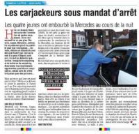 Quatre carjackeurs ont… embourbé la Mercedes qu'ils avaient volée
