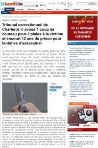 Tribunal correctionnel de Charleroi: un homme risque 12 ans de prison