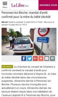 Décès d'un bébé dans des circonstances étranges dans le Hainaut