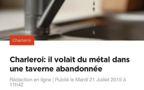 Il volait du cuivre dans une taverne abandonnée de Charleroi
